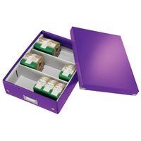 Короб-органайзер Leitz Click&Store фиолетовый