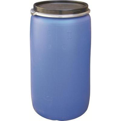 Уценка. Бочка из ПНД 230 л синяя с крышкой