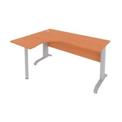 Стол письменный Riva ПЛ.СА.-4Л левый на металлокаркасе (груша, 1600х1200х755 мм)
