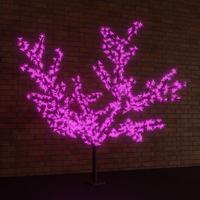 Дерево светодиодное Сакура фиолетовое 1728 диодов (2x2.4 м)