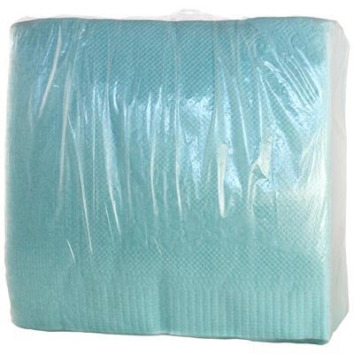 Салфетки бумажные Пастель 24x24 см голубые 1-слойные 100 штук в упаковке
