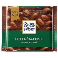 Шоколад Ritter Sport молочный с цельным миндалем 100 г