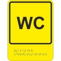 Знак безопасности Обособленный туалет для одного посетителя (200х150 мм, пластик)