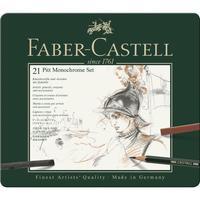 Набор художественных изделий Faber-Castell Pitt Monochrome 21 предмет