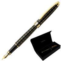 Ручка перьевая Pierre Cardin Progress цвет чернил синий цвет корпуса черный (артикул производителя PC5000FP-02G)