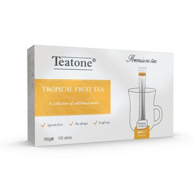 Чай Teatone черный с тропическими фруктами 100 стиков