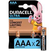 Батарейки Duracell Ultra мизинчиковые ААA LR03 (2 штуки в упаковке)