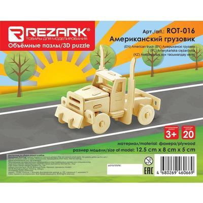 Сборная модель из дерева Rezark Пазл 3D Американский грузовик