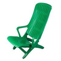 Шезлонг пластиковый (зеленый)