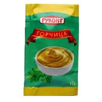 Горчица Руконт русская порционная 50 штук в упаковке