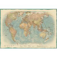 Настенная политическая карта мира в стиле ретро 1000x700 мм 1:34 млн