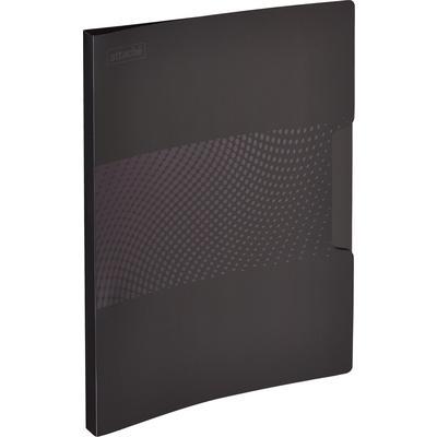 Папка с зажимом Attache Digital А4+ 0.45 мм черная(до 120 листов)