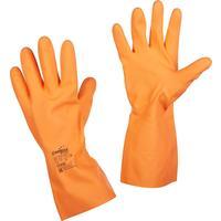 Перчатки Manipula Specialist Цетра L-F-04 из латекса оранжевые (размер 8-8.5, M)