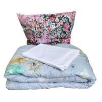 Набор 1.5-спальный (одеяло 140x205 см, подушка 70x70 см, комплект  постельного белья)