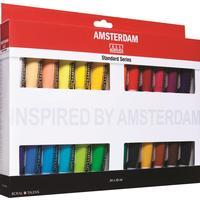Краски акриловые Royal Talens Amsterdam 24 цвета по 20 мл