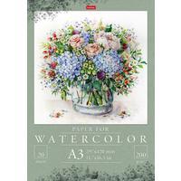 Папка для акварели Hatber Цветочных красок акварель А3 20 листов