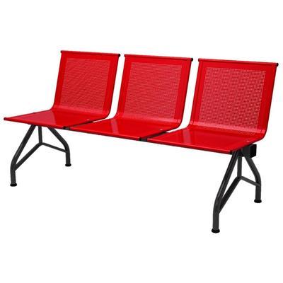 Многоместная секция Стилл СМ-86/2 перфорированная красная/черная (3  места, металл)