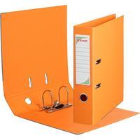 Папка-регистратор Комус Стандарт 75 мм оранжевая
