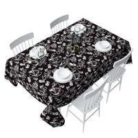 Скатерть Сирень Черный кофе 140х220 см оксфорд черная