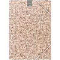 Папка на резинке Attache Fleur A4 30 мм картонная до 300 листов коралловая (плотность 270 г/кв.м)