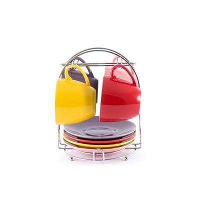 Сервиз чайный Gipfel 245 мл в ассортименте на 4 персоны на подставке (артикул производителя 7900)