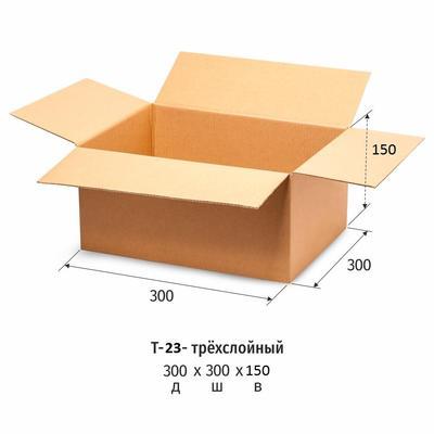 Гофрокороб 300x300x150 мм Т-23 бурый (10 штук в упаковке)