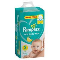 Подгузники Pampers New Baby-Dry размер 2 (S) 4-8 кг (144 штуки в упаковке)