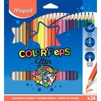 Карандаши цветные Maped 24 цвета трехгранные