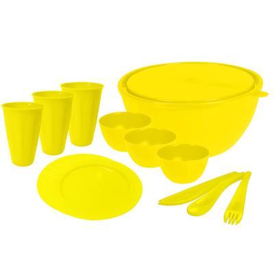 Набор посуды для пикника Plastic Centre Bono на 3 персоны 19 предметов (артикул производителя GR1829)