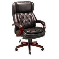Кресло для руководителя Easy Chair 427 TL черное (натуральная кожа, дерево)