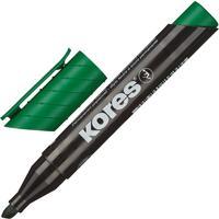 Маркер перманентный Kores зеленый (толщина линии 3-5 мм) скошенный наконечник