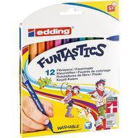 Фломастеры Edding 15 Funtastics 12 цветов