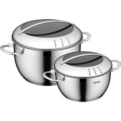 Набор посуды Nadoba Maruska нержавеющая сталь 2 кастрюли с крышкой (артикул производителя 726617)