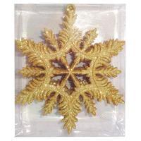 Набор декоративных украшений Снежинки золотистый (4 штуки в упаковке)