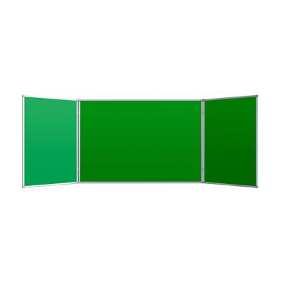 Доска магнитно-меловая 100x300 см трехсекционная зеленая лаковое покрытие Attache