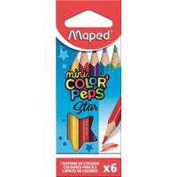 Карандаши цветные Maped mini Color'peps Star  6 цветов трехгранные