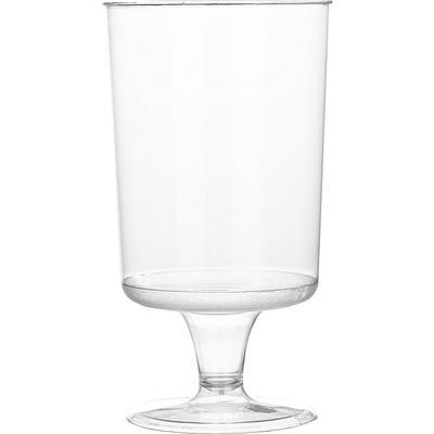 Бокал одноразовый для вина пластиковый 170 мл прозрачный 6 штук в упаковке Комус Эконом