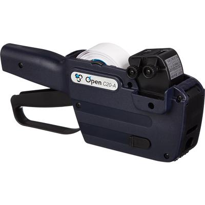 Этикет-пистолет Open С20/A двухстрочный с кириллицей (прямоугольная лента, 10 символов в строке, 26x16 мм)