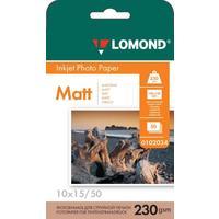 Фотобумага для цветной  струйной печати Lomond односторонняя (матовая, 10x15 см, 230 г/кв.м, 50 листов, артикул производителя 0102034)