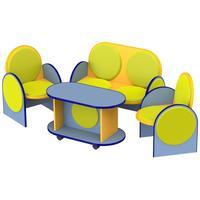 Комплект детской мягкой мебели Алина (диван двухместный, 2 кресла, стол)
