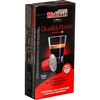 Кофе в капсулах для кофемашин Molinari Qualita Rosso (10 штук в упаковке)