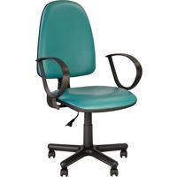 Кресло офисное Jupiter зеленое (искусственная кожа, пластик)