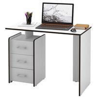 Стол компьютерный Слим-1 (белый, 1030x750x500 мм)