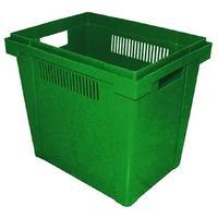 Ящик для цветов пластиковый 400х300х350 мм зеленый