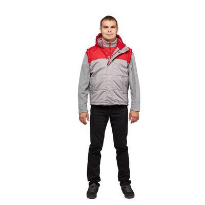 Жилет утепленный мужской Статус-ЖЛ серый/красный (размер 48, 170-176)