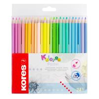 Карандаши цветные Kores 24 цвета трехгранные