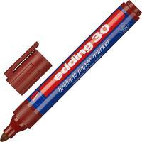 Маркер перманентный пигментный Edding 30/007 коричневый (толщина линии 1,5-3 мм) круглый наконечник