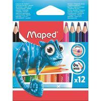 Карандаши цветные Maped Pulse mini 12 цветов  трехгранные