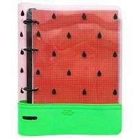 Бизнес-тетрадь Infolio Watermelon A5 120 листов разноцветная в клетку на кольцах (175x212 мм)