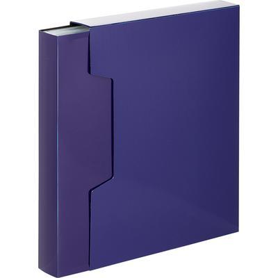 Папка файловая на 80 файлов Комус Line A4 40 мм синяя в коробе (толщина обложки 0.7 мм)